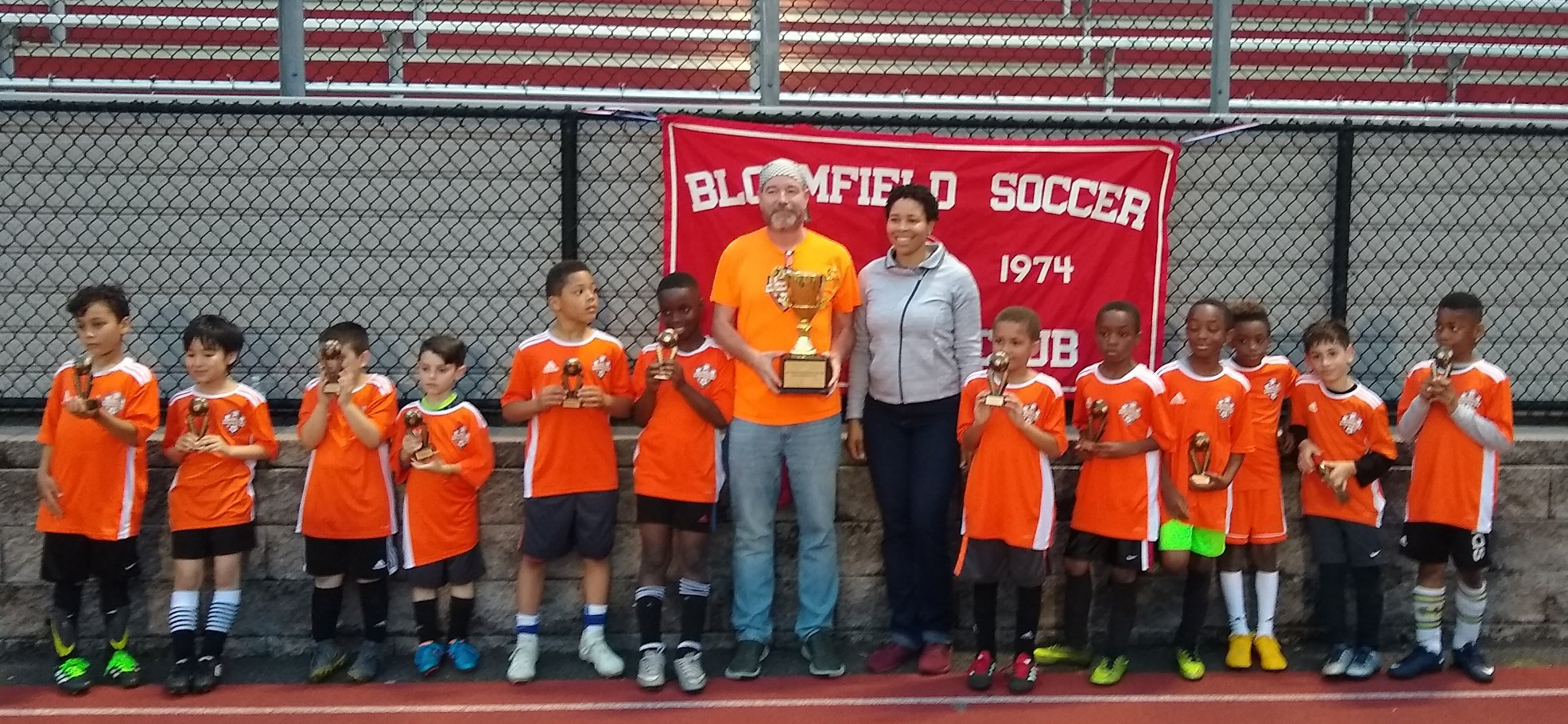 The 2019 Bloomfield Cup Spring intown soccer season crowns its final champion tonight at Foley Field. Congratulations to the Orange Holland 2/3rd grade boys. Spring 2019 Bloomfield Cup champions.